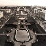 Выставка достижений народного хозяйства черно-белое фото 60-х годов