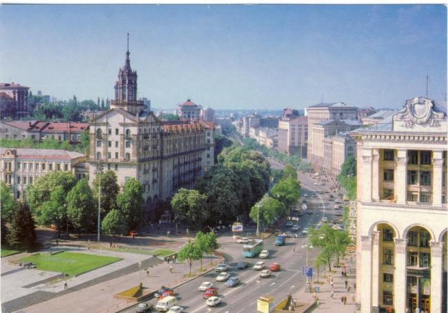 Главпочтамт, Крещатик, 80-е годы, Киев