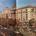 Крещатик от Бессарабской площади в 80-х годах