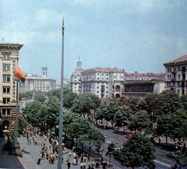 Станция метро Крещатик в 80-х годах