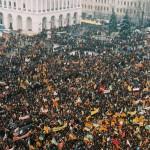 Майдан в дни Оранжевой революции в 2004 году