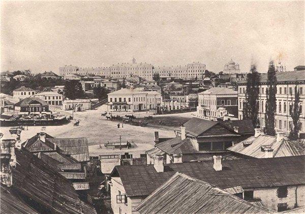 Крещатицкая площадь в 1871 году (ныне Площадь Независимости)