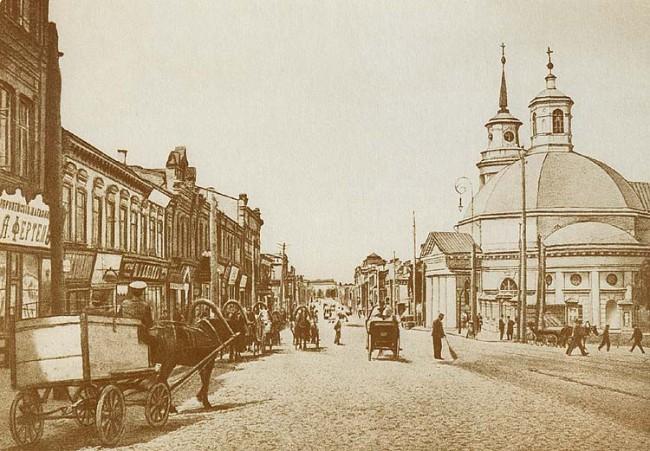 Улица Сагайдачного и Почтовая площадь, конец 19 века