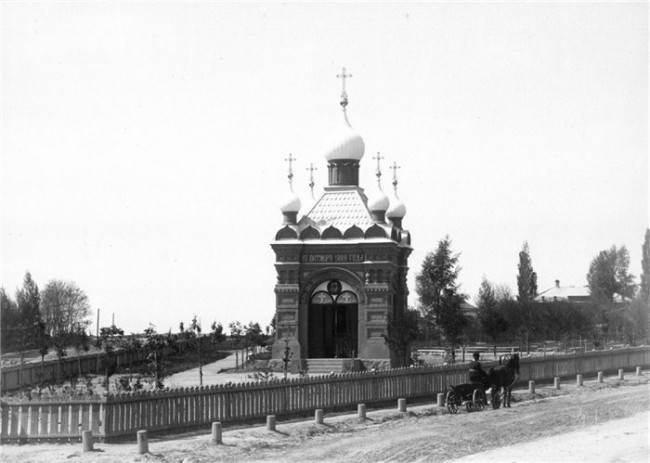 Часовня на Лукьяновке в конце 19 века