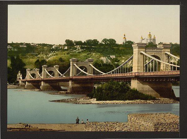Николаевский мост, не сохранившийся до наших дней, начало 20 века