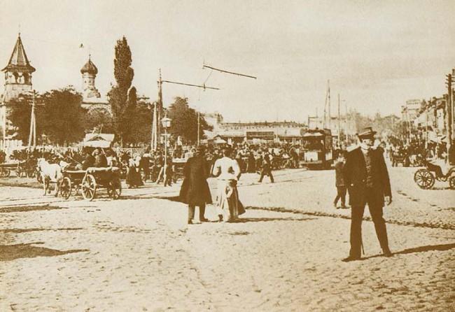 Галицкая площадь в начале 20 века (нынешняя площадь Победы)