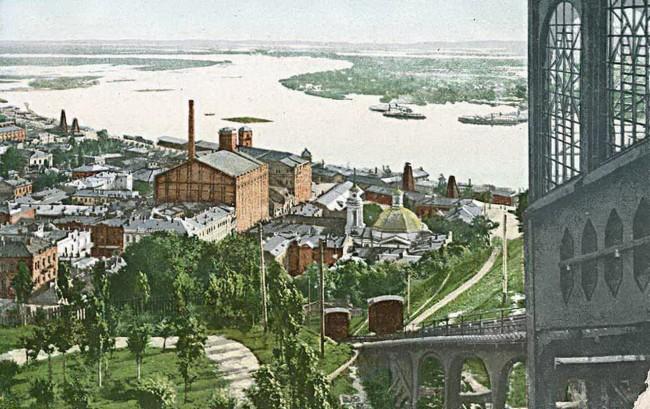 Почтовая площадь и фуникулер в начале 20 века