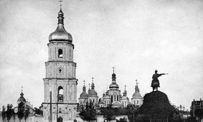 Памятник Богдану Хмельницкому в 1906 году