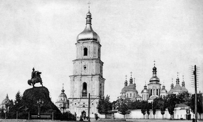 Фонтан на Софийской площади в 1906 году
