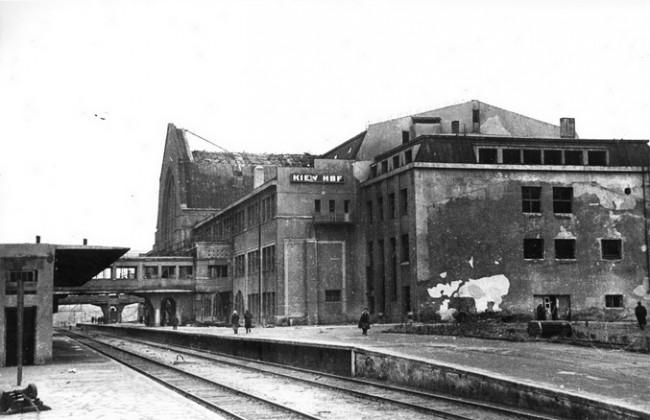 ЖД вокзал Киева в 1943 году