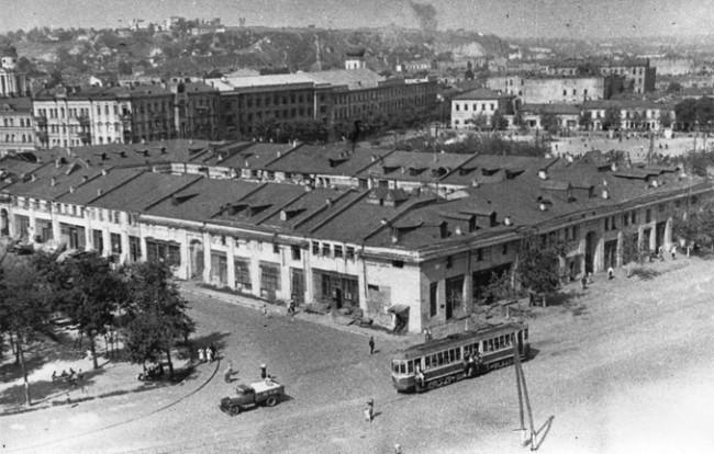 1946 год, Красная площадь, ныне Контрактовая, Гостиный двор