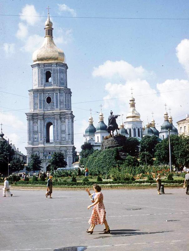 Софийская площадь в 1955 году