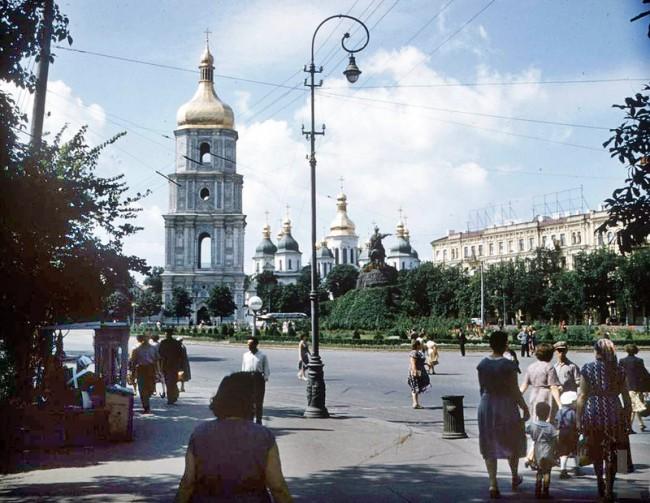 Фото 1955 года, Софийская площадь