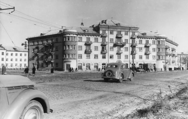 Улица Урицкого в 1955 году