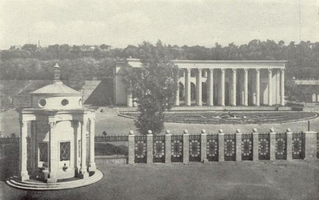 Вход на стадион имени Хрушева в 1957 году