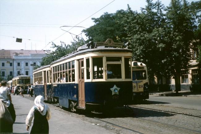 Трамвайная остановка, Контрактовая площадь в 1959 году