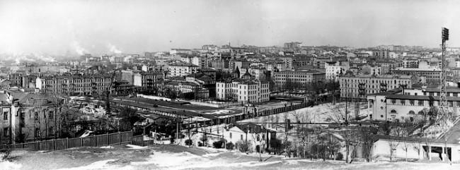 Троицкая площадь перед Республиканским стадионом в 19159 году