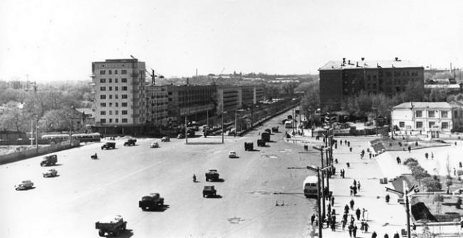 Площадь Победы в 1960 году