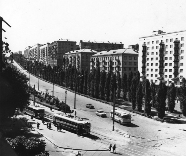 Бульвар Леси Украинки в 60-х годах 20-го века