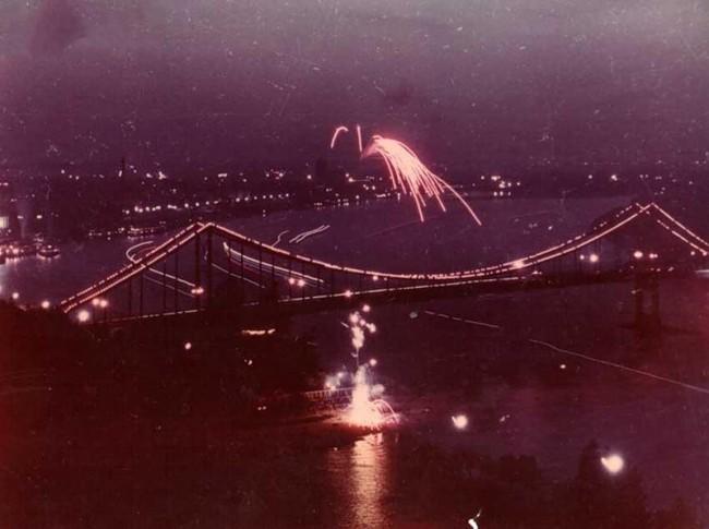 Пешеходный мост в 60-х годах 20 века