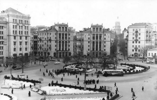 Площадь Калинина в 1962 году