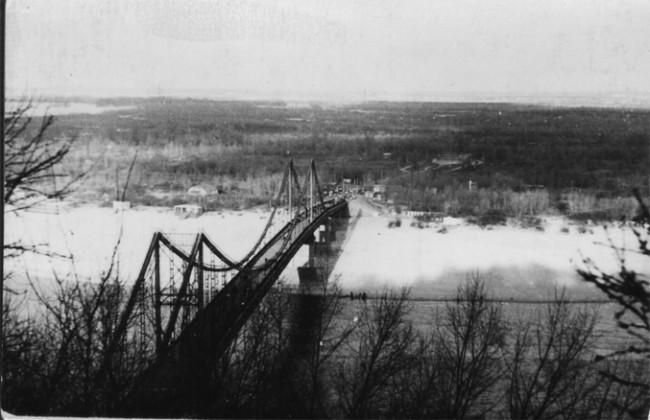 Пешеходный мост в 1963 году