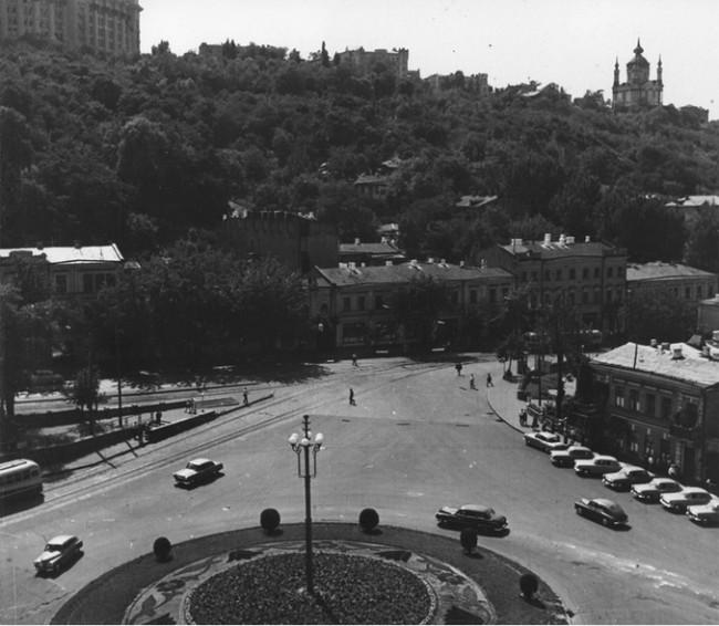 Почтовая площадь в 1963 году, улица Сагайдачного, бывшая Жданова