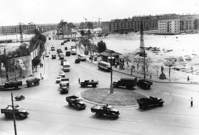 Ленинградская площадь Киева в 1964 году