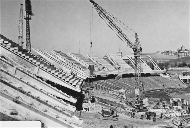 1967 год. Строительство второго яруса Республиканского стадиона