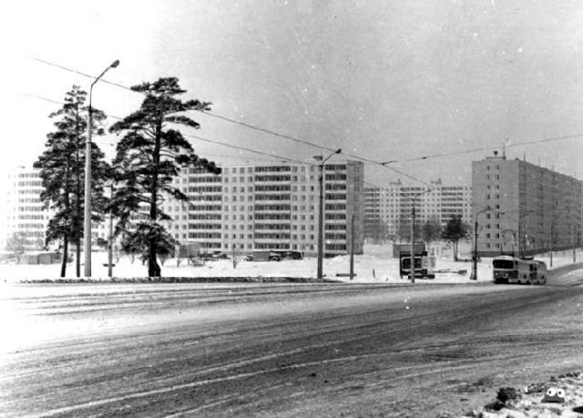 Станция метро Комсомольская (ныне Черниговская) в 1970 году