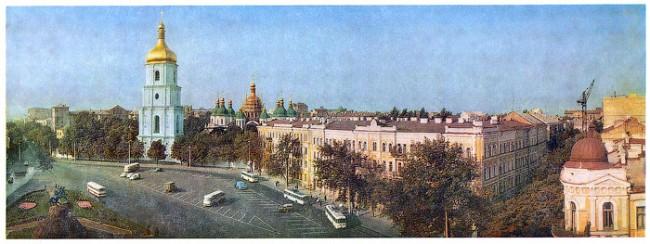 Панорама Софийской площади в 1974 году