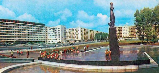 Бульвар Леси Украинки в 80-х годах