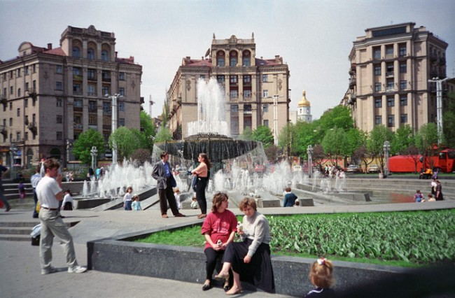 Площадь Независимости в 1990 году