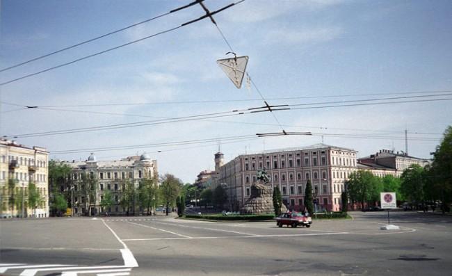 Площадь Хмельницкого в 1990 году