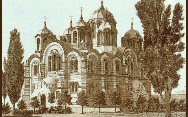 Литография собора святого Владимира
