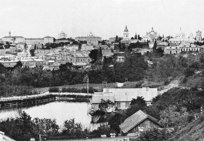 Площадь Франко и улица Городецкого в 1880 году