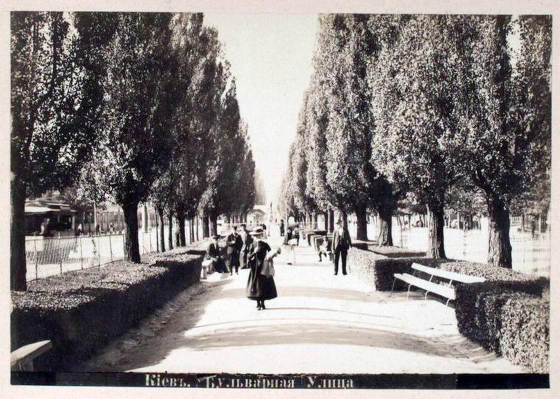 Бибковский бульвар, аллея, конец 19 века, Киев