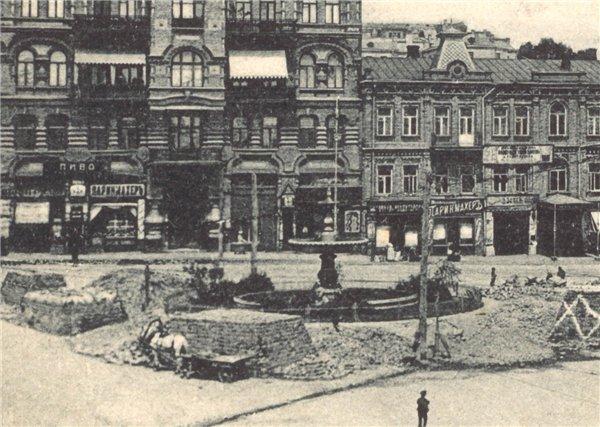 Фонтан на Караваевской площади в 1900 году