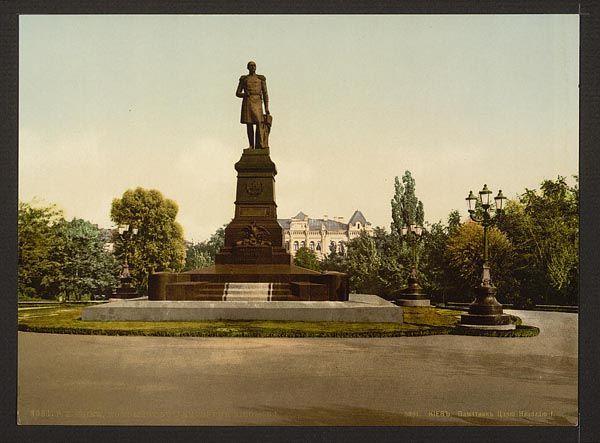 Памятник Николаю Первому в 1900-х годах