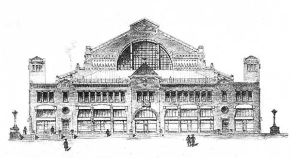 Проект Бессарабского рынка от 1908 года