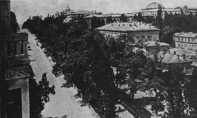 Бибиковский бульвар в 1913 году. Паласт отель, современный Премьер Палац