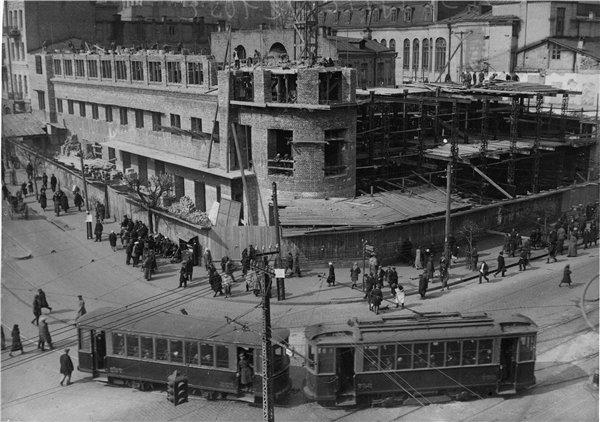 1930-е годы. Строительство по проекту Дома книги (на месте современного ЦУМа)