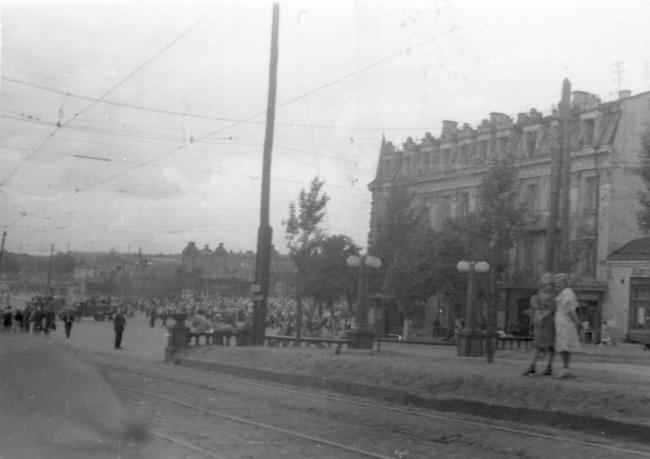 Бульвар Шевченко в сороковых
