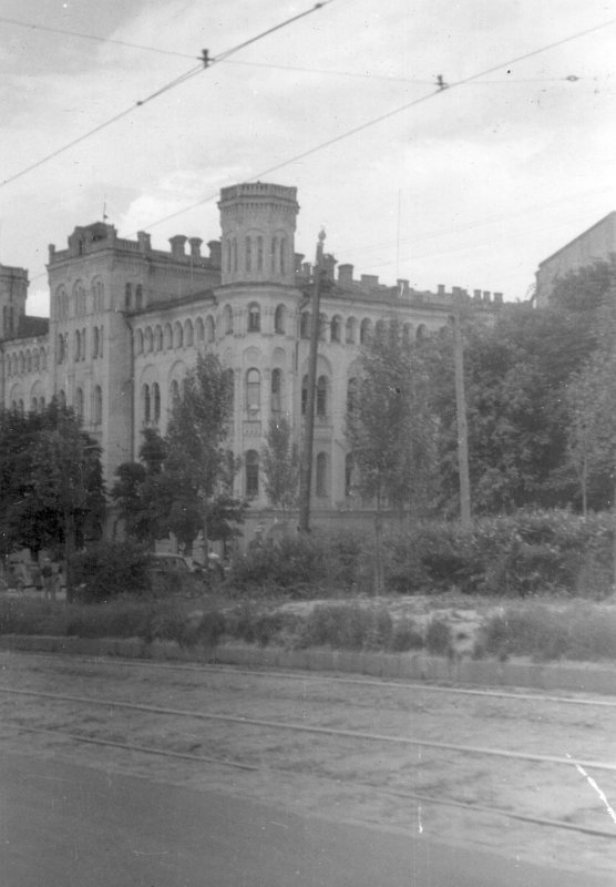 Бульвар Шевченко в сороковые годы