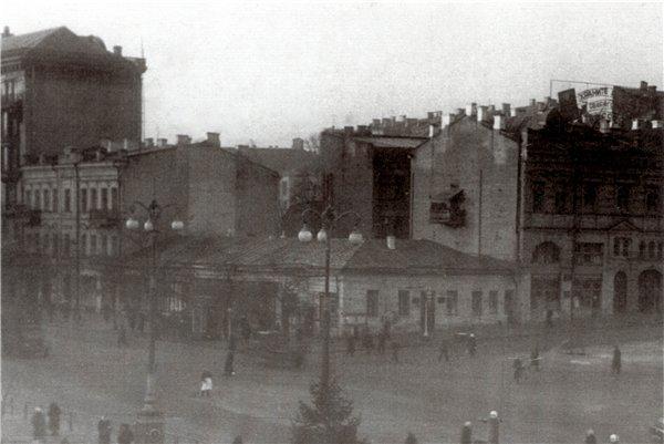 Бульвар Шевченко в 1950 году