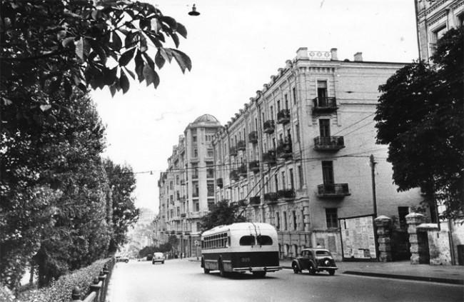Бульвар Шевченко в 1955 году