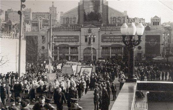 Бульвар Шевченко и Бессарабская площадь в 1957 году
