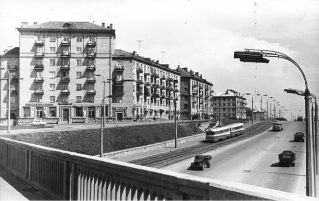 Станция метро Берестейская, мост в 1960 году