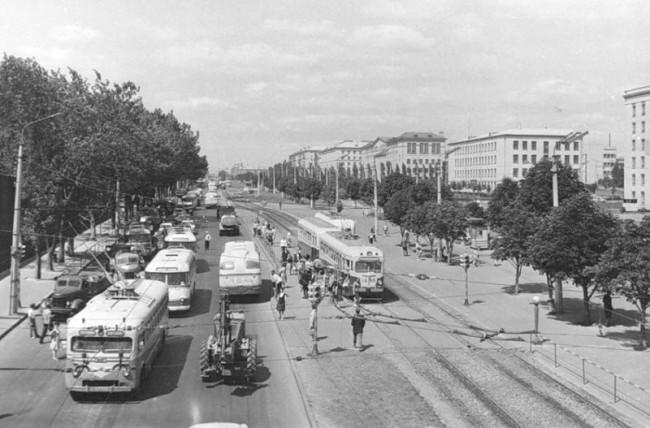 Проспект Победы в 60-х годах