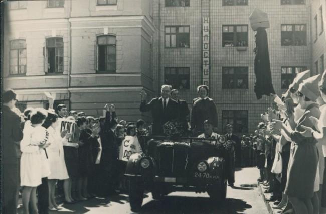 1961 год. На территории университета Шевченко. Фото из архива Ольги Тельпис.